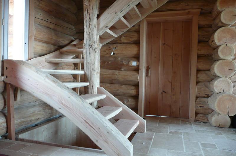 Kofabois meuble en rondin massif paris france for Rondin de bois pour escalier exterieur